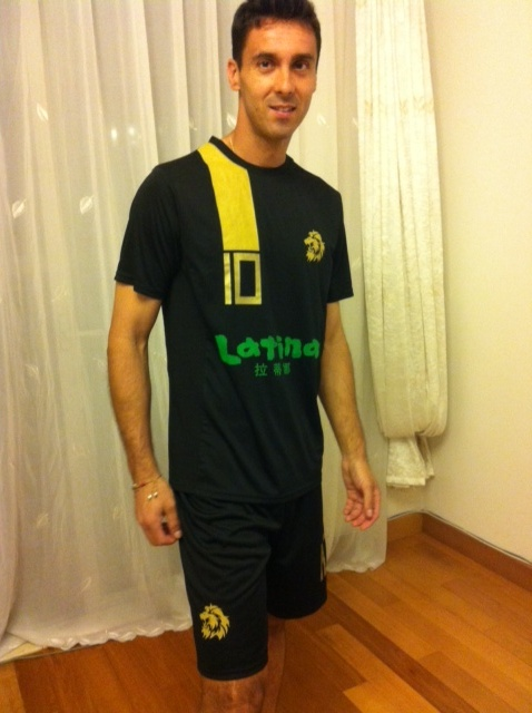 Felipe Da Fonseca with Shanghai Lions new kit