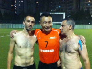 Gong Lei (middle) -  Head coach of Guizhou Renhe Football Club